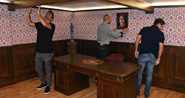 Una de las salas en Juegos Mentales