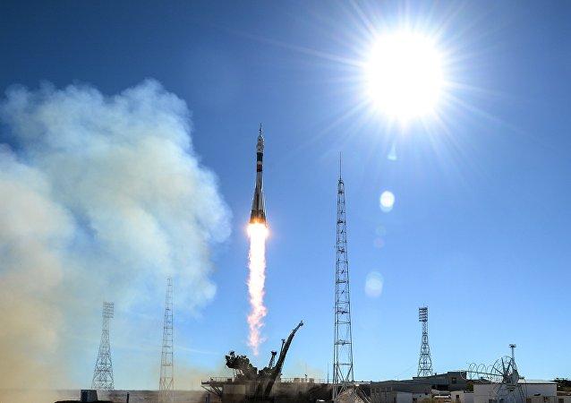 El lanzamiento de la nave Soyuz (archivo)