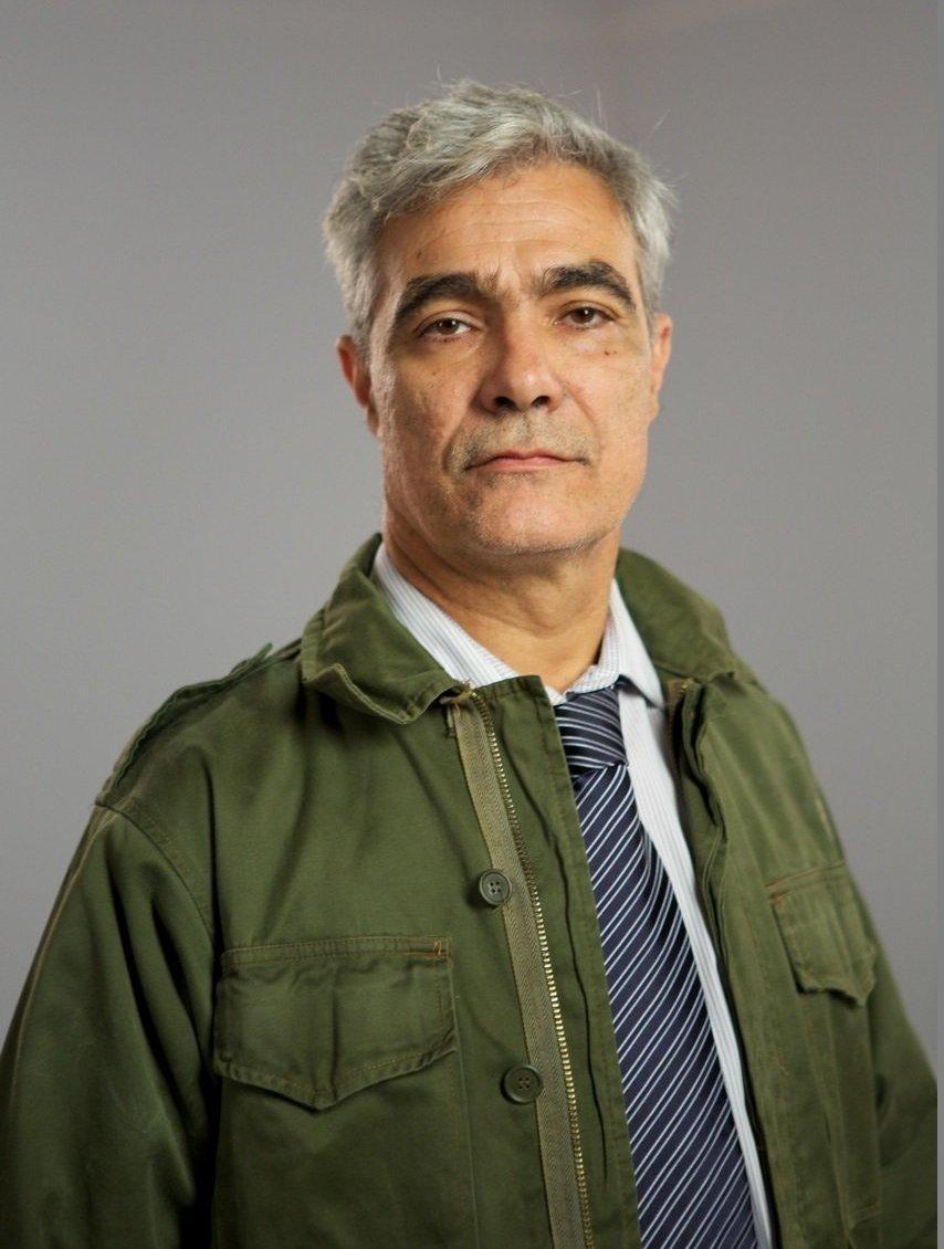 Gabriel Sagastume, ex combatiente de la guerra de Malvinas y uno de los protagonistas de la obra de teatro Campo Minado.
