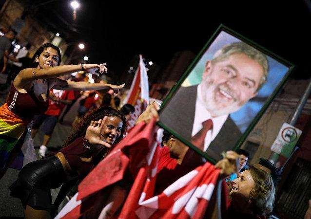 Partidarios del expresidente brasileño Luiz Inácio Lula da Silva