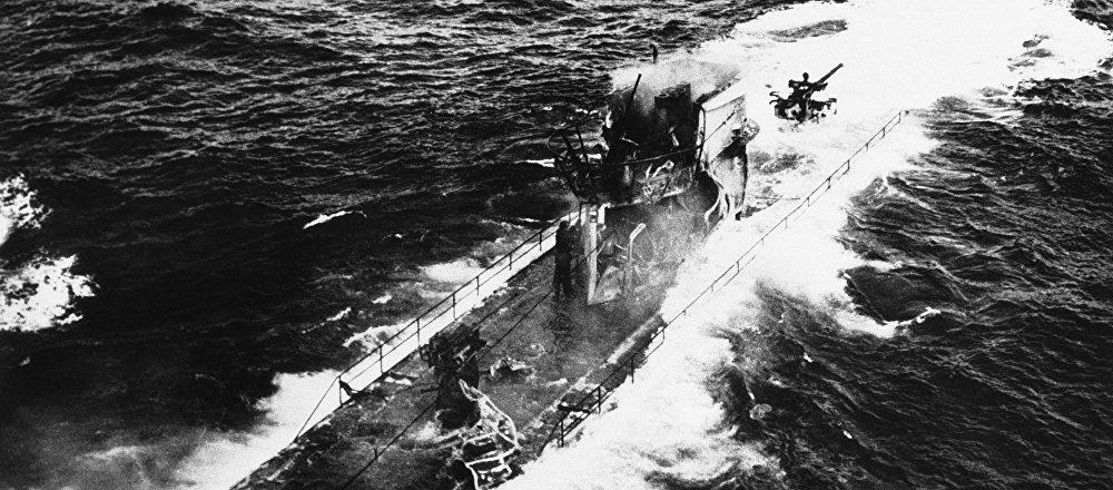 Un submarino nazi durante la Segunda Guerra Mundial, imagen referencial