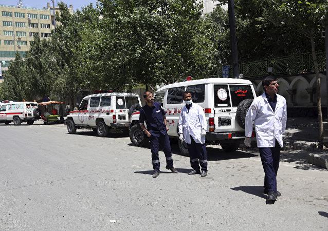 Unas ambulancias en Afganistán, imagen referencial