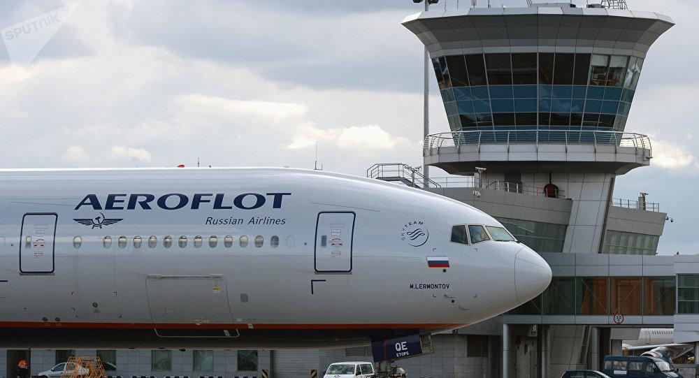 Un avión de la mayor aerolínea rusa, Aeroflot