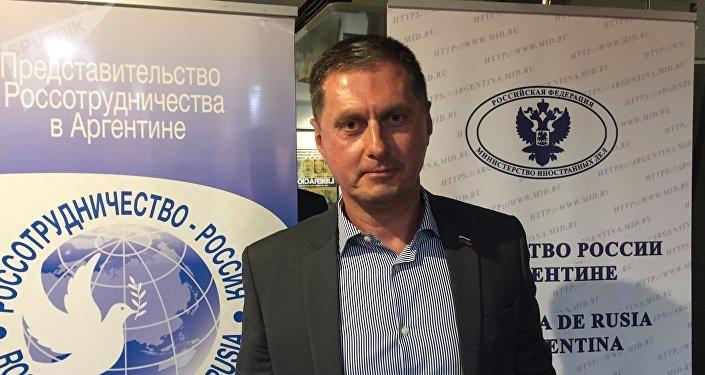 El embajador ruso en Argentina, Dmitry Feoktistov, habló antes del comienzo del film