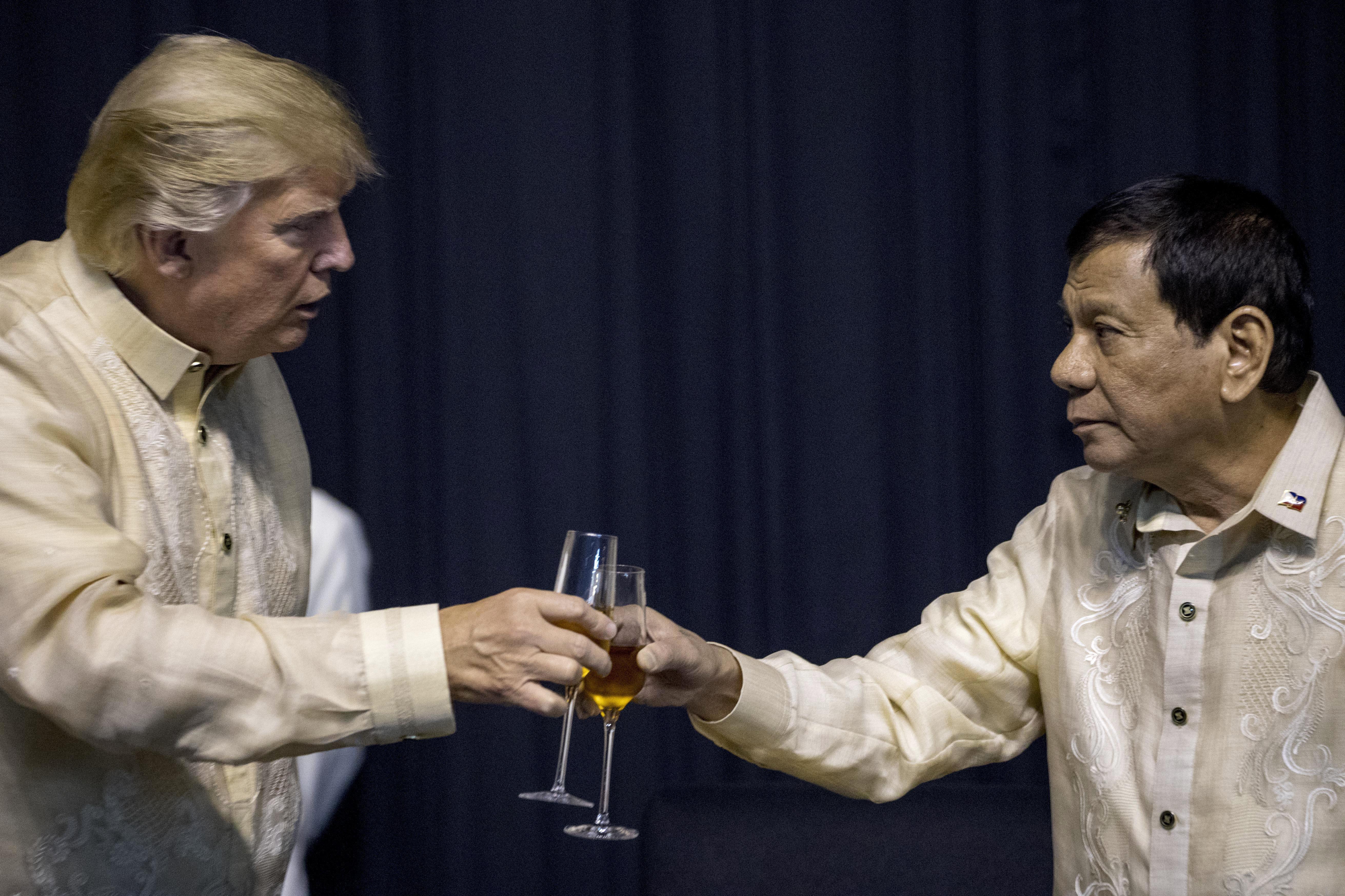 Donald Trump, en Manila, el 12 de noviembre de 2017
