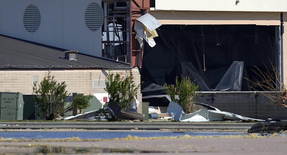 Base aérea Tyndall dañada por el huracán Michael