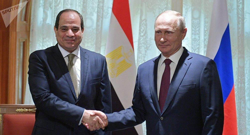Presidente de Egipto, Abdelfatah Sisi, y presidente de Rusia, Vladímir Putin