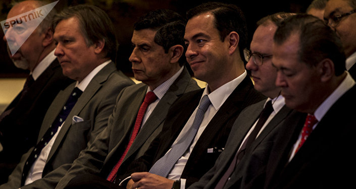 Paulo Carreño, director general de Pro-México, durante la misión empresarial en México del Centro Ruso de Exportaciones
