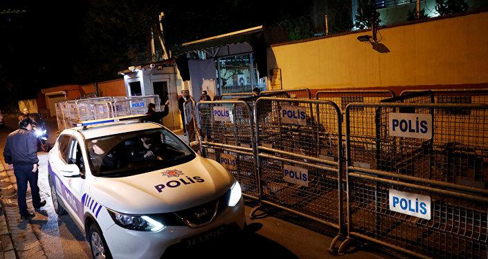 Un coche de la policía turca