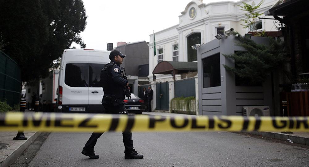 Policia turca, cerca al Consulado de Arabia Saudí en Estambul