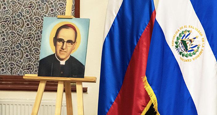 Ceremonia en honor a la canonización de Óscar Romero en la Catedral de la Inmaculada Concepción de Moscú, 19 de octubre de 2018