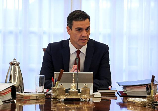 El presidente del Gobierno español, Pedro Sánchez