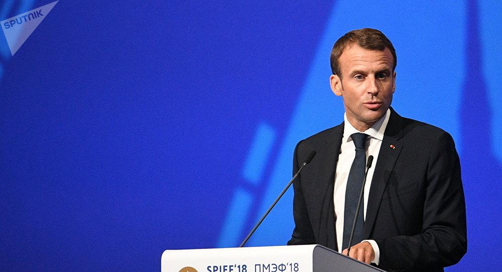 Emmanuel Macron, el presidente de Francia (archivo)