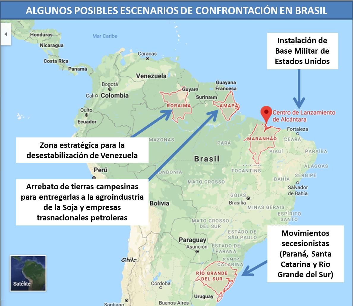 Algunos posibles escenarios de confrontación en Brasil