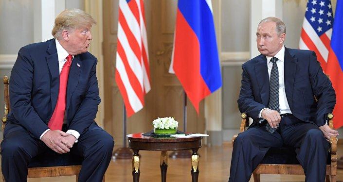 La reunión entre el presidente de Estados Unidos, Donald Trump, y el presidente de la Federación de Rusia, Vladímir Putin