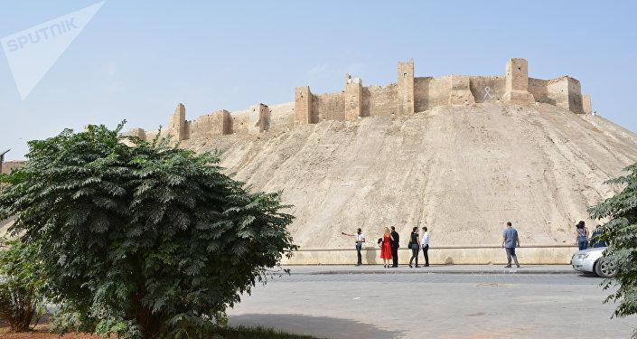 La Ciudadela de Alepo, después de la liberación de la ciudad