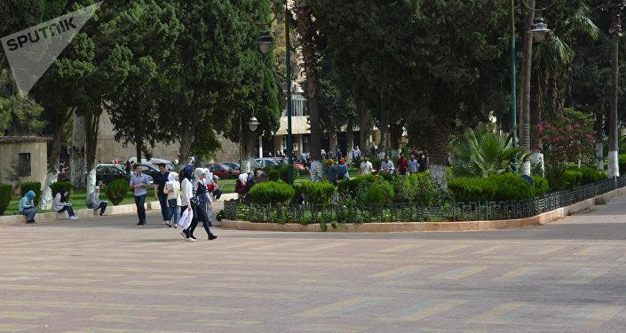 Campus de la Universidad de Alepo, después de la liberación de la ciudad