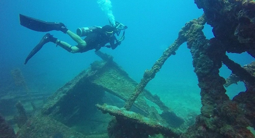 Los restos de un barco hundido (imagen ilustrativa)