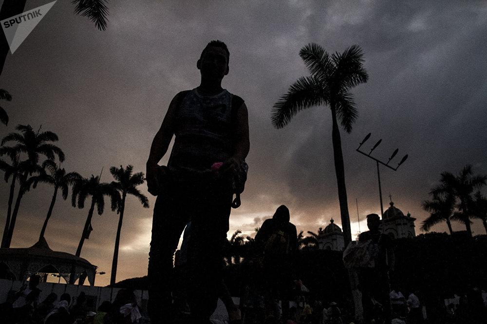 Migrante centroamericano en México durante el éxodo de los hondureños