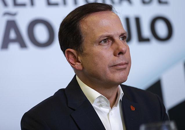 Joao Doria, gobernador de Sao Paulo (archivo)