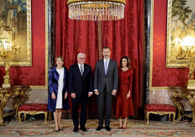 El presidente de Alemania, Frank-Walter Steinmeier y el rey Felipe VI de España