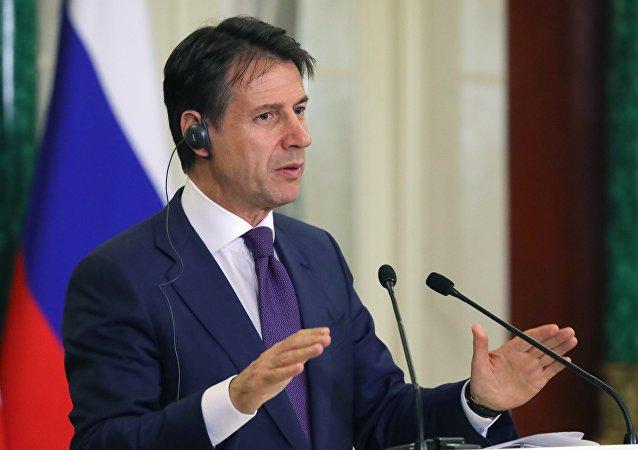 Giuseppe Conte, el primer ministro de Italia (archivo)