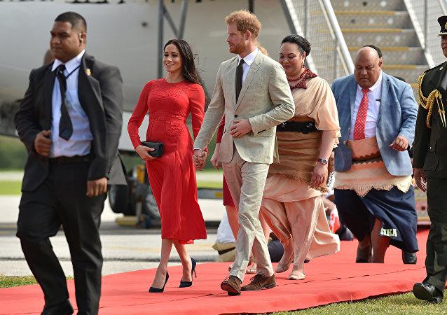 Meghan Markle y el príncipe Harry visitan Tonga