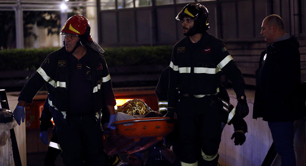 Colapso de una escalera mecánica en Roma