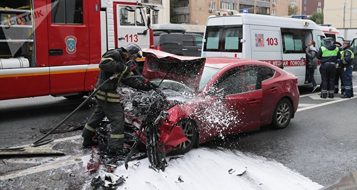 Un accidente de tránsito en Rusia