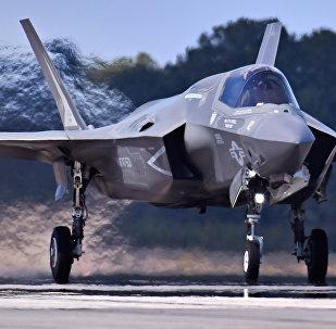 El F-35B, caza de despegue corto y aterrizaje vertical