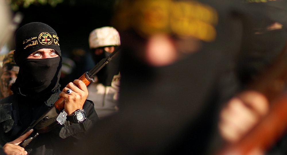 Milicianos del movimiento palestino Yihad Islámica