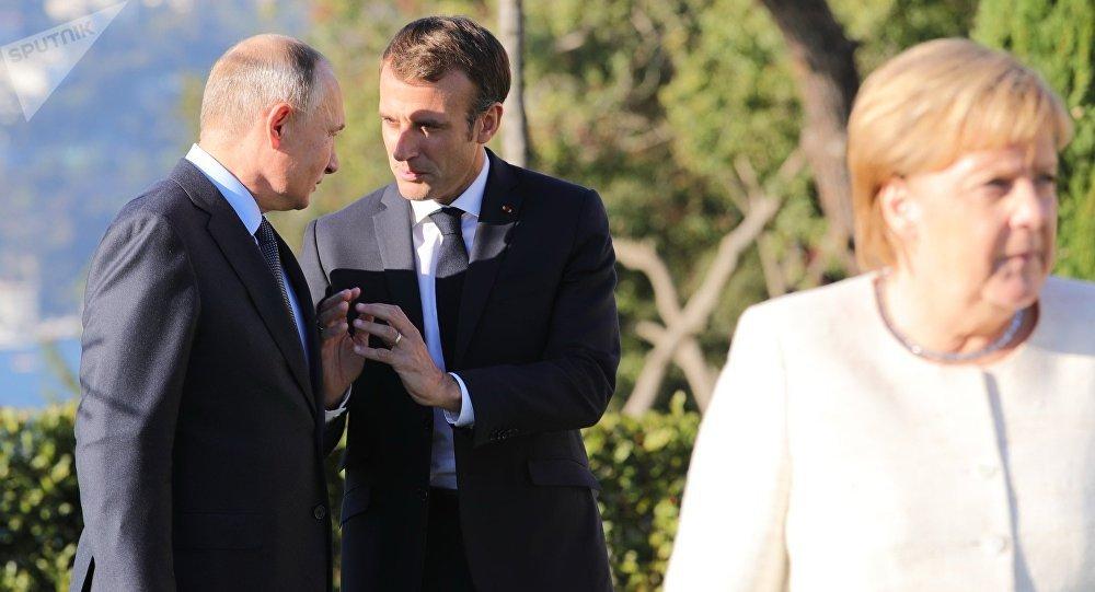 Cumbre inédita reúne a Rusia, Turquía, Francia y Alemania