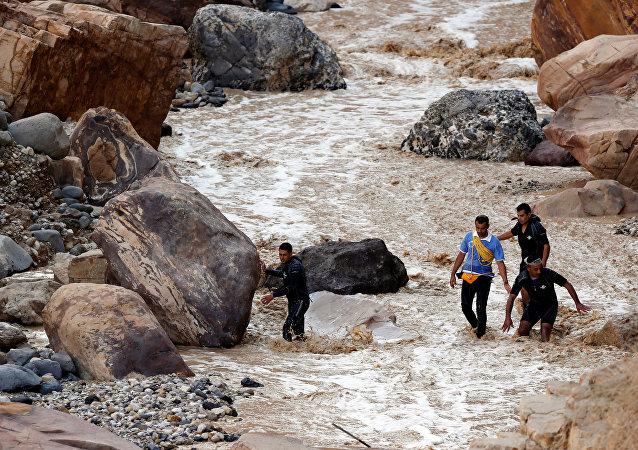Inundación en Jordania