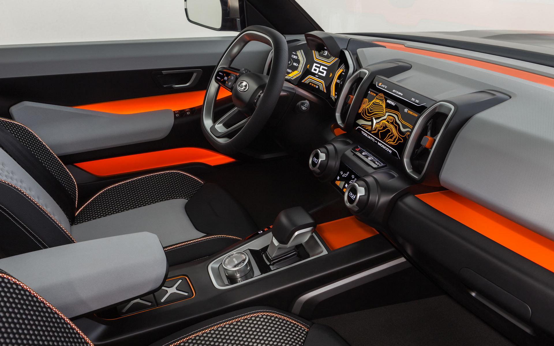 El interior del Lada 4x4 Vision