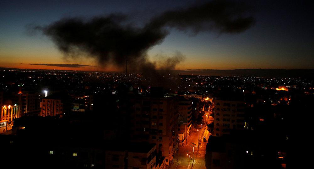 Tres niños palestinos mueren en bombardeo
