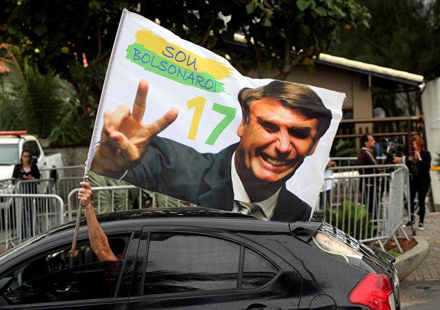 Un seguidor de Jair Bolsonaro