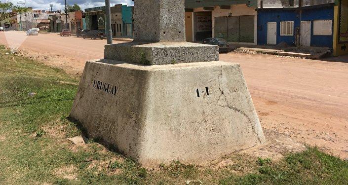 Chuy, límite entre Brasil y Uruguay