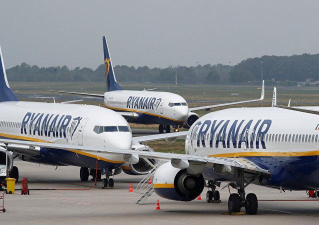 Dos aviones de Ryanair