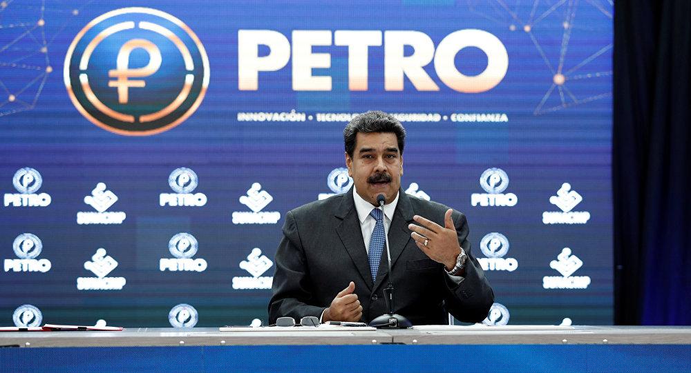 El presidente de Venezuela, Nicolás Maduro, durante su discurso sobre petro (Archivo)