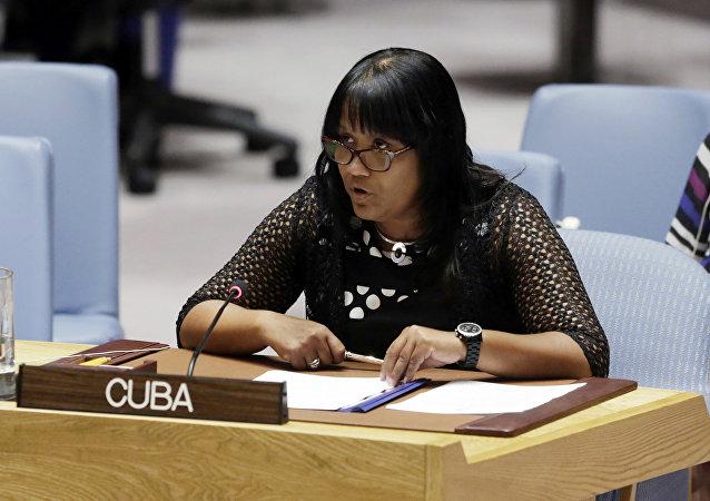 Embajadora Anayansi Rodríguez Camejo, representante permanente de Cuba ante la ONU