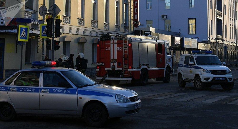 Explosión en una de la sede del Servicio Federal de Seguridad de Rusia ubicado en la ciudad de Arjánguelsk