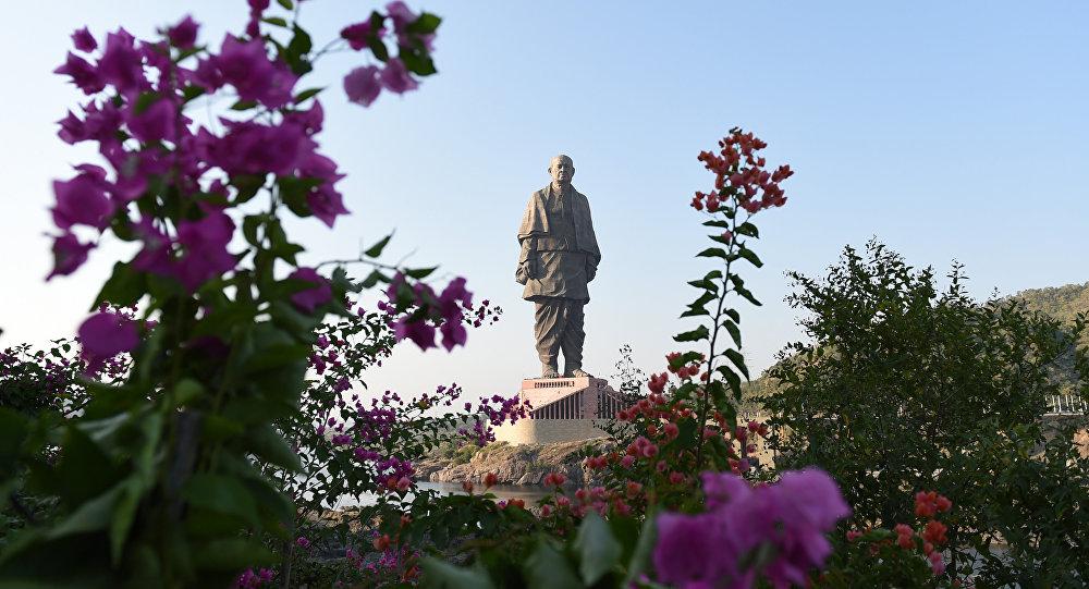 La estatua de la Unidad, la más alta del mundo, en la India