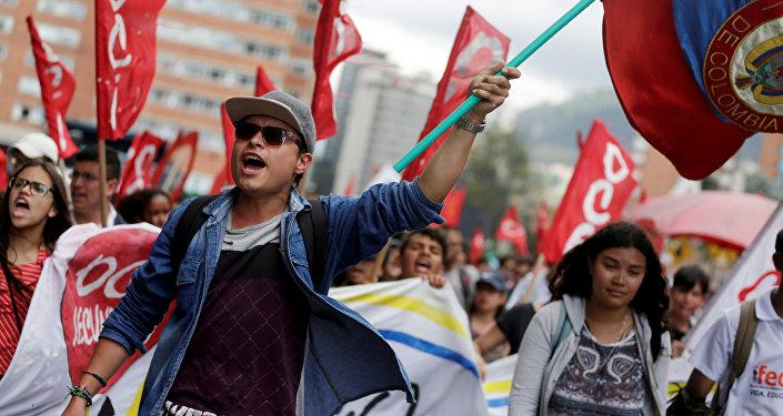 Las protestas de estudiantes en Colombia