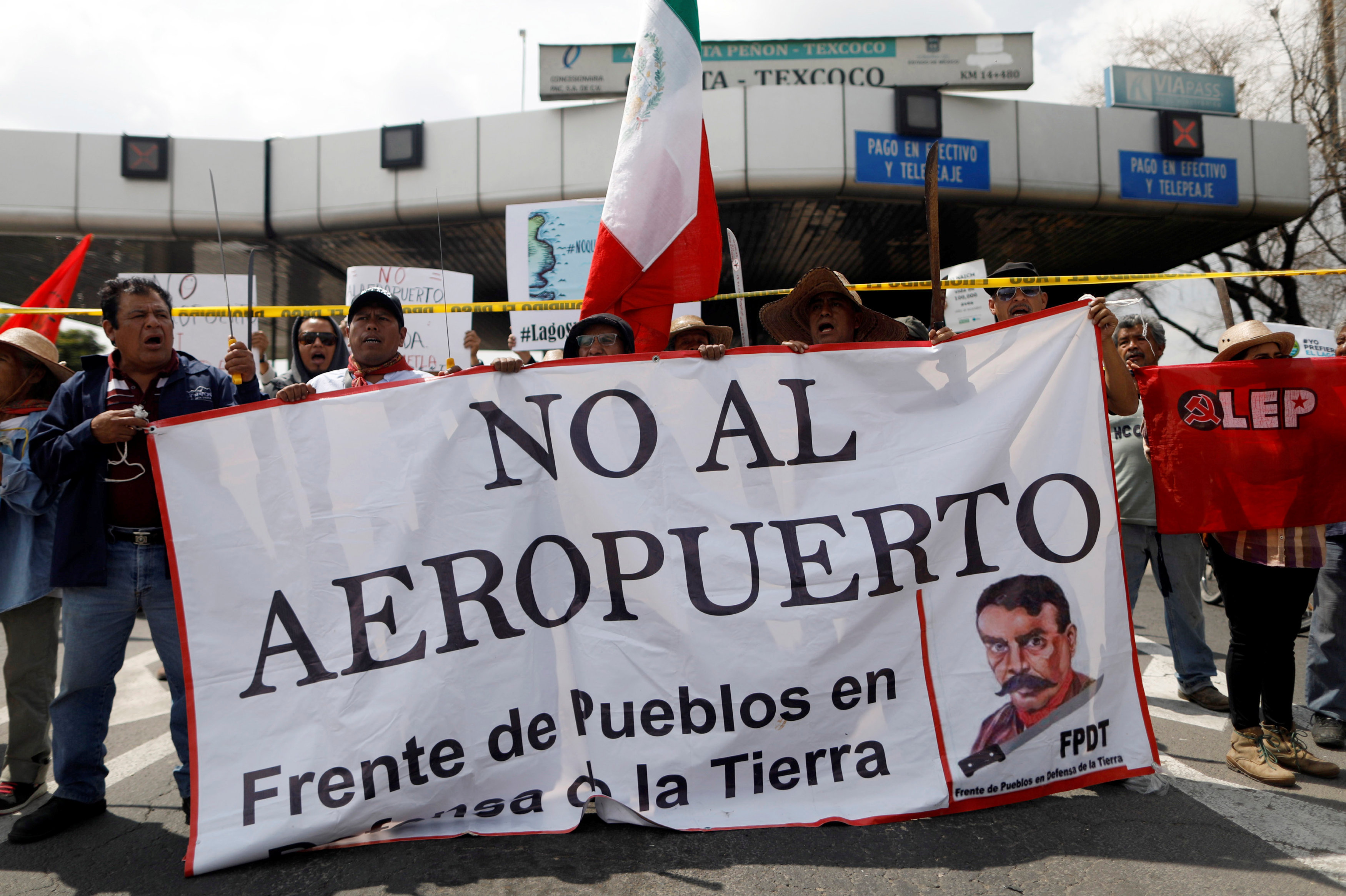 Las organizaciones protestan contra la construcción del aeropuerto internacional en México