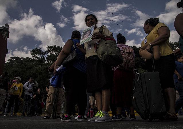 Integrantes de la 14° Caravana de Madres Centroamericanas en busca de migrantes desaparecidos en México