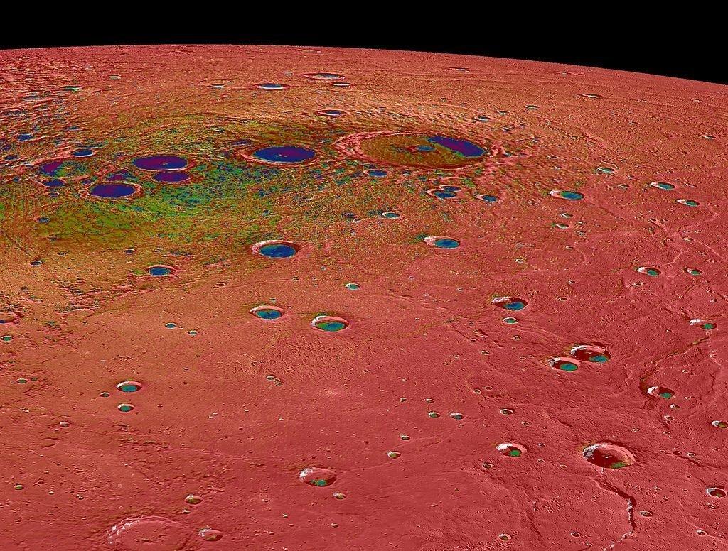 Mapa térmico de Mercurio