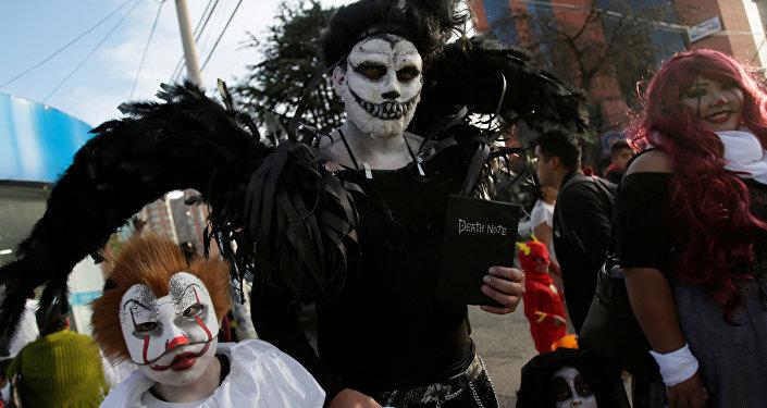 Los bolivianos celebrando la fiesta de Todos Santos
