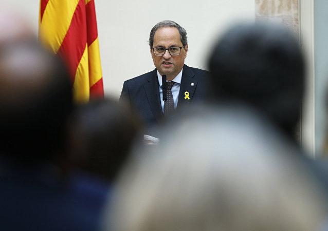 Quim Torra, el presidente de la Generalitat (Gobierno catalán)