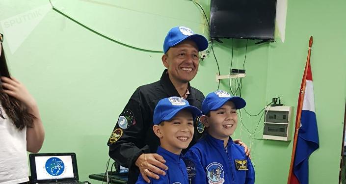 Vinicio Montoya en la Segunda Conferencia Espacial del Paraguay