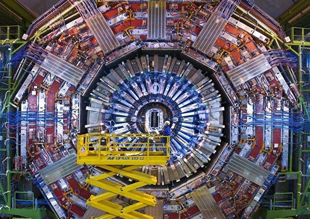 El detector de partículas Solenoide compacto de muones (CMS, por sus siglas en inglés) del Gran Colisionador de Hadrones